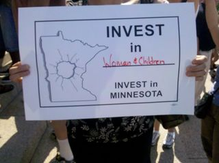 Invest in Women's Health Rally Sign