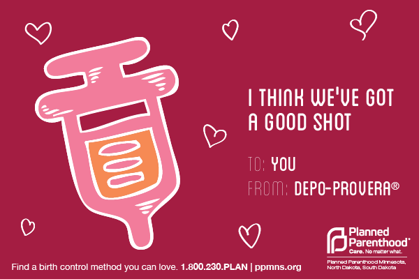 birth control depo shot valentine
